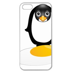 Linux Tux Pengion Oops Apple Seamless iPhone 5 Case (Clear)