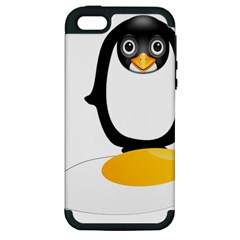 Linux Tux Pengion Oops Apple Iphone 5 Hardshell Case (pc+silicone)