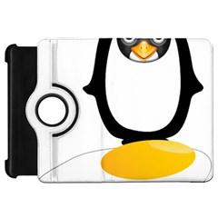 Linux Tux Pengion Oops Kindle Fire HD 7  (1st Gen) Flip 360 Case