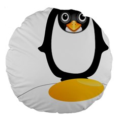 Linux Tux Pengion Oops 18  Premium Round Cushion