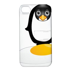 Linux Tux Pengion Oops Apple iPhone 4/4S Hardshell Case with Stand