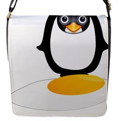 Linux Tux Pengion Oops Flap Closure Messenger Bag (Small)