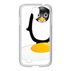 Linux Tux Pengion Oops Samsung GALAXY S4 I9500/ I9505 Case (White)