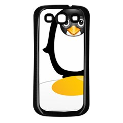 Linux Tux Pengion Oops Samsung Galaxy S3 Back Case (Black)