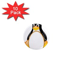 LINUX TUX PENGUINS 1  Mini Button Magnet (10 pack)
