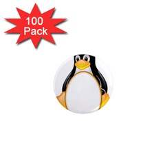 LINUX TUX PENGUINS 1  Mini Button Magnet (100 pack)