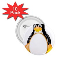 LINUX TUX PENGUINS 1.75  Button (10 pack)