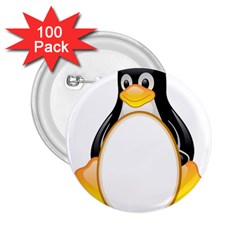 LINUX TUX PENGUINS 2.25  Button (100 pack)