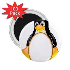 LINUX TUX PENGUINS 2.25  Button Magnet (100 pack)
