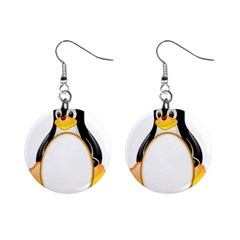 LINUX TUX PENGUINS Mini Button Earrings