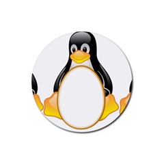 LINUX TUX PENGUINS Drink Coasters 4 Pack (Round)