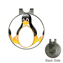 LINUX TUX PENGUINS Hat Clip with Golf Ball Marker