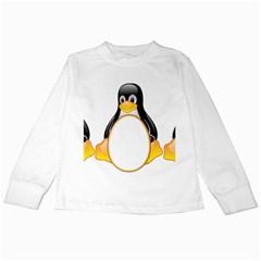 LINUX TUX PENGUINS Kids Long Sleeve T-Shirt