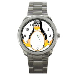 LINUX TUX PENGUINS Sport Metal Watch