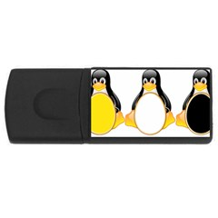 Linux Tux Penguins 4gb Usb Flash Drive (rectangle)