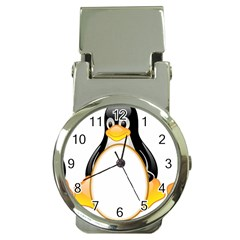 LINUX TUX PENGUINS Money Clip with Watch