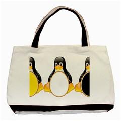 Linux Tux Penguins Classic Tote Bag