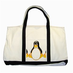 LINUX TUX PENGUINS Two Toned Tote Bag