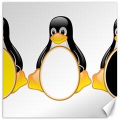 Linux Tux Penguins Canvas 12  X 12  (unframed)