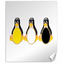 Linux Tux Penguins Canvas 20  X 24  (unframed)
