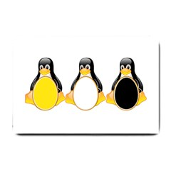 LINUX TUX PENGUINS Small Door Mat
