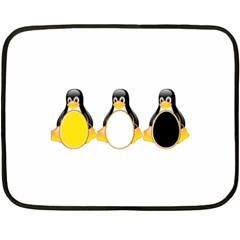 LINUX TUX PENGUINS Mini Fleece Blanket (Two Sided)