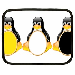 Linux Tux Penguins Netbook Sleeve (xxl)
