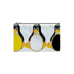 Linux Tux Penguins Cosmetic Bag (small)