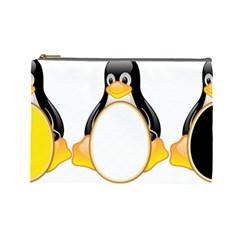 LINUX TUX PENGUINS Cosmetic Bag (Large)