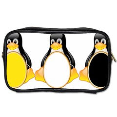 LINUX TUX PENGUINS Travel Toiletry Bag (One Side)
