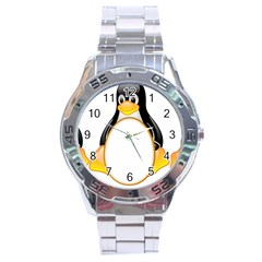 LINUX TUX PENGUINS Stainless Steel Watch