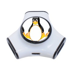 Linux Tux Penguins 3 Port Usb Hub