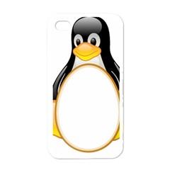LINUX TUX PENGUINS Apple iPhone 4 Case (White)