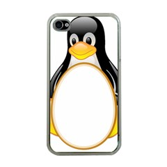 LINUX TUX PENGUINS Apple iPhone 4 Case (Clear)