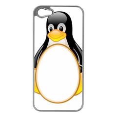 LINUX TUX PENGUINS Apple iPhone 5 Case (Silver)