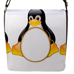 LINUX TUX PENGUINS Flap Closure Messenger Bag (Small)