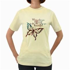 A beautiful tee  Womens  T-shirt (Yellow)