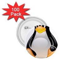 CRYSTAL LINUX TUX PENGUIN  1.75  Button (100 pack)