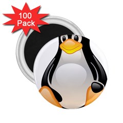 CRYSTAL LINUX TUX PENGUIN  2.25  Button Magnet (100 pack)
