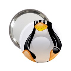 CRYSTAL LINUX TUX PENGUIN  Handbag Mirror (2.25 )
