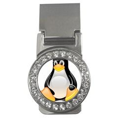 Crystal Linux Tux Penguin  Money Clip (cz)