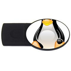 CRYSTAL LINUX TUX PENGUIN  4GB USB Flash Drive (Oval)
