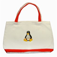 CRYSTAL LINUX TUX PENGUIN  Classic Tote Bag (Red)