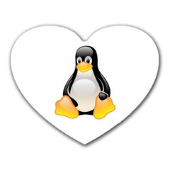 CRYSTAL LINUX TUX PENGUIN  Mouse Pad (Heart)