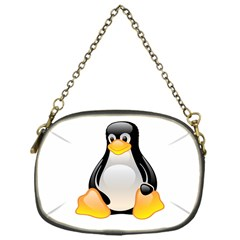 CRYSTAL LINUX TUX PENGUIN  Chain Purse (One Side)