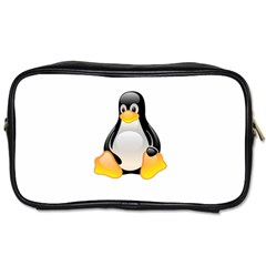 CRYSTAL LINUX TUX PENGUIN  Travel Toiletry Bag (Two Sides)