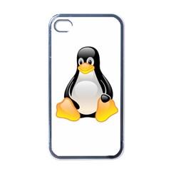 CRYSTAL LINUX TUX PENGUIN  Apple iPhone 4 Case (Black)