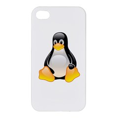 CRYSTAL LINUX TUX PENGUIN  Apple iPhone 4/4S Premium Hardshell Case