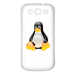 CRYSTAL LINUX TUX PENGUIN  Samsung Galaxy S3 Back Case (White)