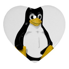 LINUX TUX CONTRA SIT Heart Ornament